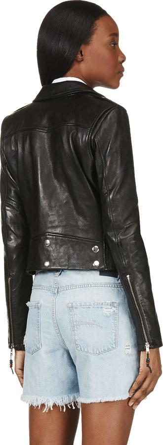BLK DNM Black Leather Biker Jacket