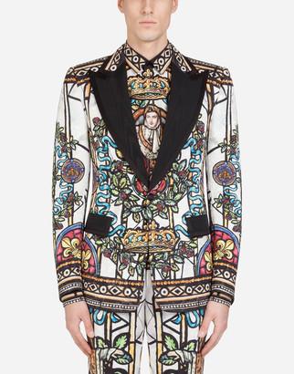 Dolce & Gabbana Casino Tuxedo Jacket With Napoleon Brocade Print