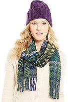 Echo Woven Muffler & Knit-Cuff Hat Gift Set