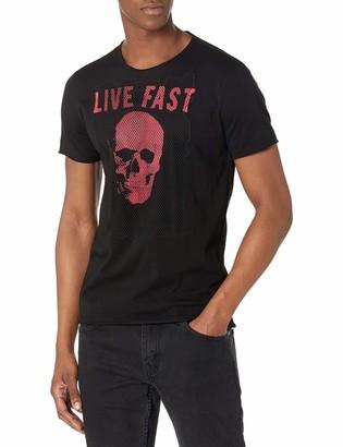 John Varvatos Men's Short Sleeve RAW Edge TEE-Live Fast