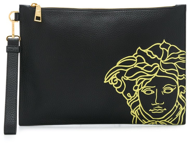 Medusa embroidered pouch