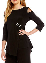 IC Collection Mesh Shoulder Insets Top