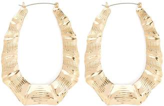 Forever 21 Bamboo Hoop Earrings