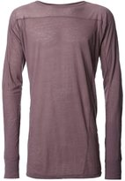 Julius long sleeved jersey top - men - Cotton/Wool - III
