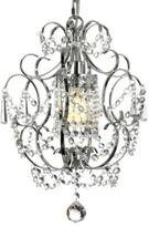 Gallery Versailles Crystal Chrome 1- Light Chandelier