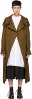 Y's Brown Oversized Trench Coat