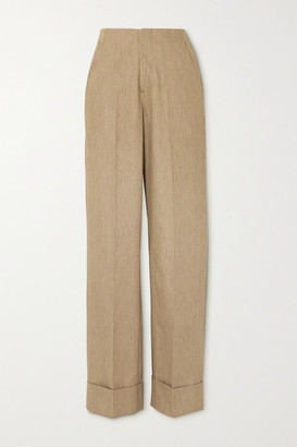 KING & TUCKFIELD Cotton Wide-leg Pants - Beige