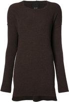 Josh Goot ribbed detail jumper - women - Wool - XS