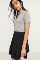 Dynamite Pleated Flared Knit Mini Skirt