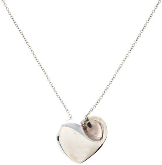 Tiffany & Co. Heart Silver Long Pendant Necklace