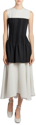 Nina Ricci Striped Corseted Dress
