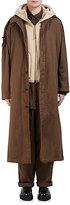 Yohji Yamamoto Men's Garment-Dyed Hooded Anorak-DARK GREEN