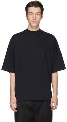 Jil Sander Navy Mock Neck T-Shirt