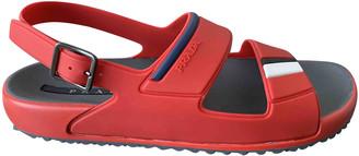 Prada Red Rubber Sandals