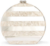 Edie Parker Oscar Striped Acrylic And Mirrored Clutch