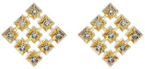 House Of Harlow Embellished Grid Square Stud Earrings