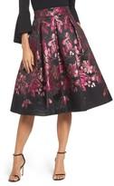 Eliza J Women's Floral Jacquard Midi Skirt