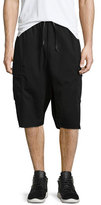 Hudson Rhett Cargo Short w/Raw Hem, Black