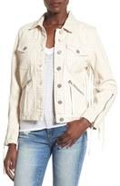 Blank NYC Women's Blanknyc Suede Fringe Denim Jacket