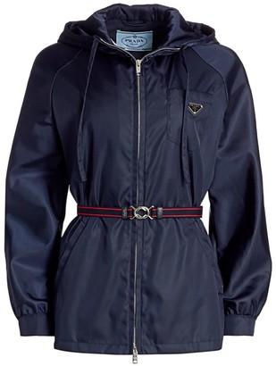 Prada Nylon Belted Anorak Jacket