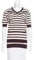 Louis Vuitton Striped Wool Top
