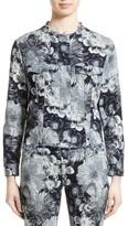 Marques Almeida Women's Marques'Almeida Floral Print Classic Fitted Denim Jacket