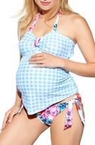 Maternal America Women's Maternity 'Carrie' Halter Tankini