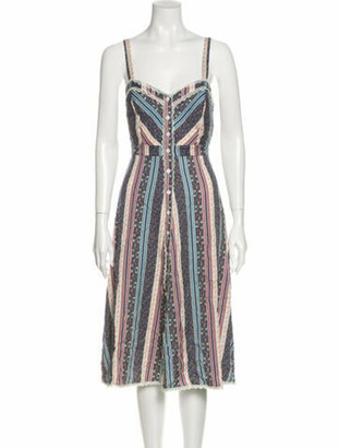 Reformation Striped Midi Length Dress w/ Tags Blue