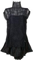 Sacai victorian neck blouse - women - Cotton/Nylon/Polyester/Cupro - 2