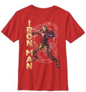 Fifth Sun Marvel Big Boy's Avengers Assemble Iron Man Tech Short Sleeve T-Shirt