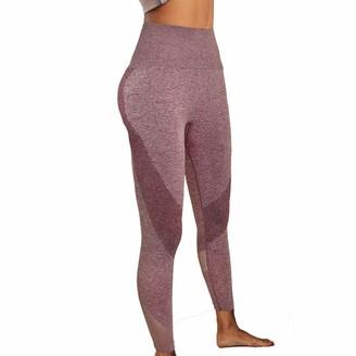 Fashion Thirsty Rockbase Womens Seamless Contour Leggings Breathable Waist Control Butt Lift Gym Pants