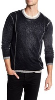 Autumn Cashmere Inked Contrast Crew Neck Shirt