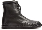 Bottega Veneta Intrecciato leather lace-up boots
