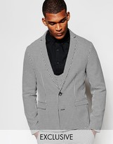 Reclaimed Vintage Skinny Suit Jacket In Dogtooth