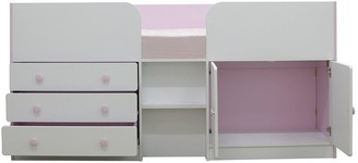 Peyton Kids Cabin Bed with Drawers, Cupboard and Mattress Options (Buy and SAVE!)