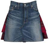 Junya Watanabe Comme Des Garçons Denim Check Skirt