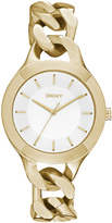 DKNY Chambers Large Gold-Tone Link Watch