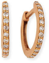 Dominique Cohen 18K Rose Gold & White Diamond Huggie Hoop Earrings