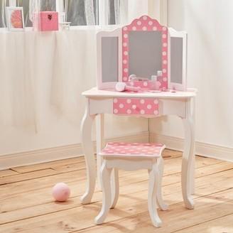 Teamson Kids Gisele Vanity Set with Mirror Color: Light Pink/White