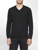 Calvin Klein Solid Merino V-Neck Sweater