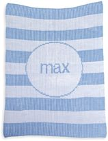 Butterscotch Blankees Striped Luxury Knit Blanket in White/Blue