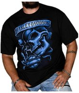 Harley-Davidson Men's Out of the Shadows Skull Short Sleeve T-Shirt, (XLT)