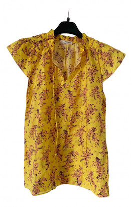 Ulla Johnson Yellow Silk Tops