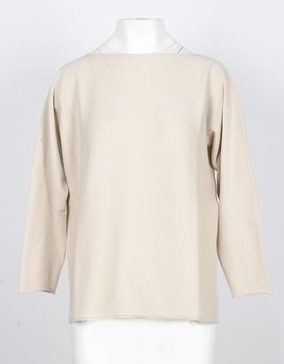 Lamberto Losani Beige 100% Cashmere Women's Oversized Sweater