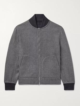 Brunello Cucinelli Reversible Cashmere and Silk-Blend Bomber Jacket - Men - Gray