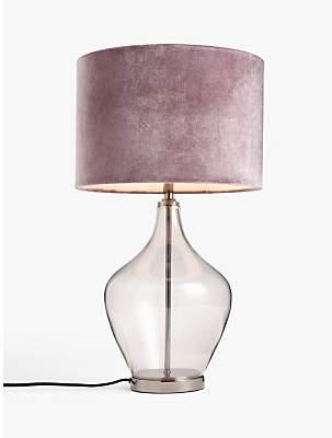 John Lewis & Partners Ursula Glass Table Lamp, Gunmetal