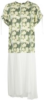 3.1 Phillip Lim Daisy print pleated T-shirt dress