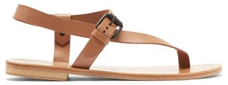 Álvaro González Andreina Asymmetric Leather Sandals - Tan