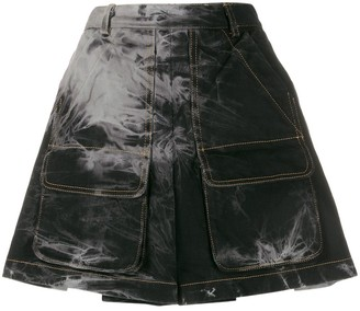 Matthew Adams Dolan tie-dye print mini skirt