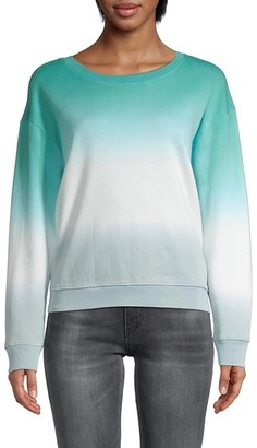 Splendid Tie-Dyed Cotton-Blend Sweatshirt